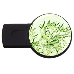 Bamboo 2gb Usb Flash Drive (round)