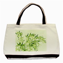 Bamboo Twin Sided Black Tote Bag