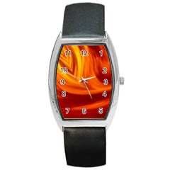 Wave Tonneau Leather Watch