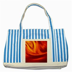 Wave Blue Striped Tote Bag