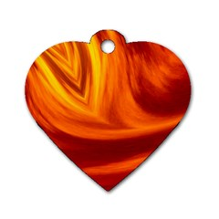 Wave Dog Tag Heart (One Sided)