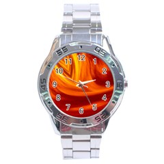 Wave Stainless Steel Watch (Men s)