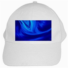 Wave White Baseball Cap