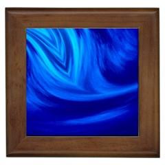 Wave Framed Ceramic Tile