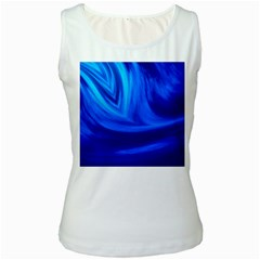 Wave Womens  Tank Top (white)