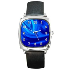 Wave Square Leather Watch