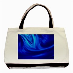 Wave Twin-sided Black Tote Bag