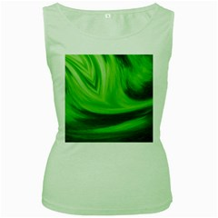 Wave Womens  Tank Top (Green)