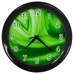 Wave Wall Clock (Black)