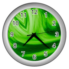 Wave Wall Clock (Silver)
