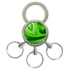 Wave 3-Ring Key Chain