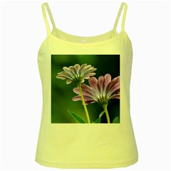 Flower Yellow Spaghetti Tank