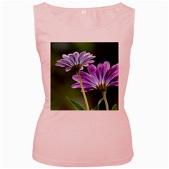 Flower Womens  Tank Top (Pink)