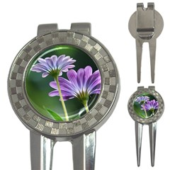 Flower Golf Pitchfork & Ball Marker