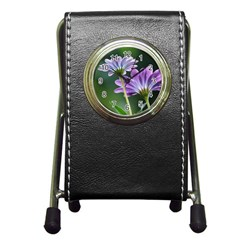 Flower Stationery Holder Clock