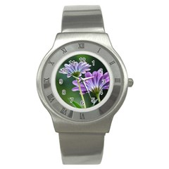 Flower Stainless Steel Watch (Unisex)