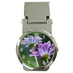 Flower Money Clip With Watch