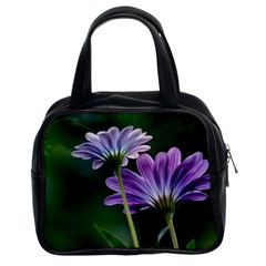 Flower Classic Handbag (two Sides)