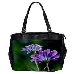 Flower Oversize Office Handbag (One Side)