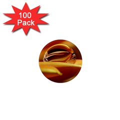 Waterdrop 1  Mini Button Magnet (100 pack)