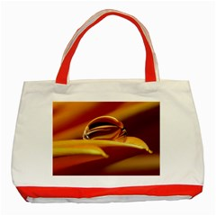Waterdrop Classic Tote Bag (Red)