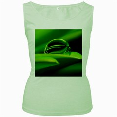 Waterdrop Womens  Tank Top (Green)
