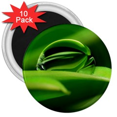 Waterdrop 3  Button Magnet (10 pack)