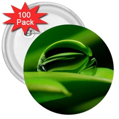 Waterdrop 3  Button (100 pack)