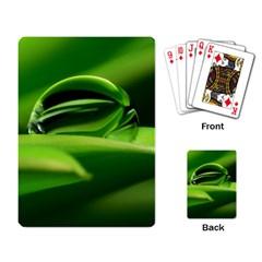 Waterdrop Playing Cards Single Design