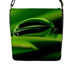 Waterdrop Flap Closure Messenger Bag (Large)