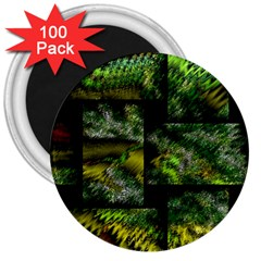 Modern Art 3  Button Magnet (100 pack)
