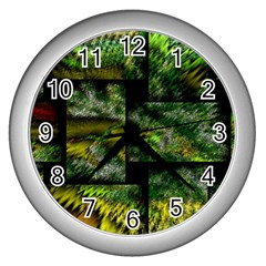 Modern Art Wall Clock (Silver)