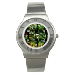 Modern Art Stainless Steel Watch (Unisex)