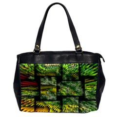 Modern Art Oversize Office Handbag (Two Sides)