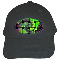 Modern Art Black Baseball Cap