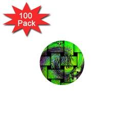 Modern Art 1  Mini Button Magnet (100 pack)