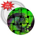 Modern Art 3  Button (100 pack) Front