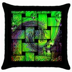 Modern Art Black Throw Pillow Case