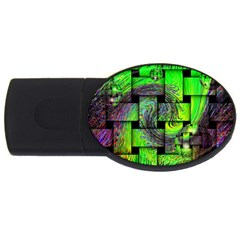 Modern Art 2gb Usb Flash Drive (oval)