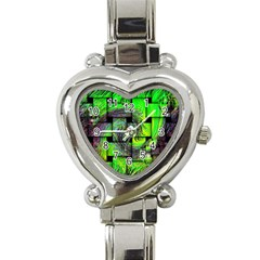Modern Art Heart Italian Charm Watch