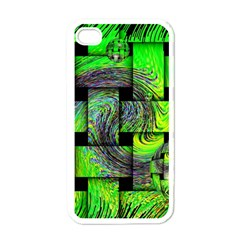Modern Art Apple iPhone 4 Case (White)