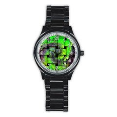 Modern Art Sport Metal Watch (Black)
