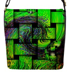 Modern Art Flap Closure Messenger Bag (small)