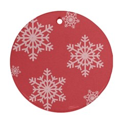 Let it snow Round Ornament (Two Sides)