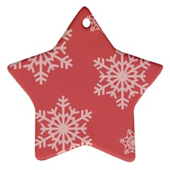 Let It Snow Star Ornament (two Sides)