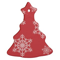 Let it snow Christmas Tree Ornament (Two Sides)
