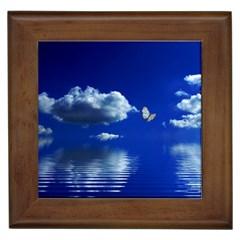 Sky Framed Ceramic Tile