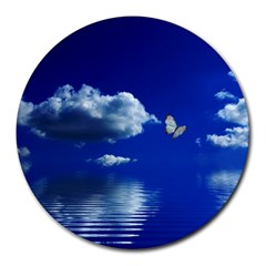 Sky 8  Mouse Pad (Round)