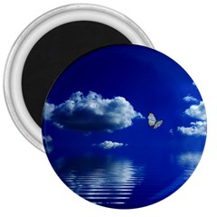 Sky 3  Button Magnet