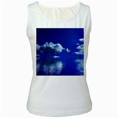Sky Womens  Tank Top (White)